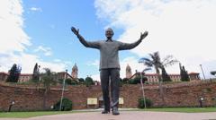 Statue of Nelson Mandela in Pretoria Stock Footage