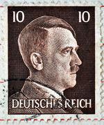 Adolf hitler on a stamp Stock Photos