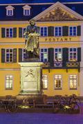 Germany, North Rhine-Westphalia, Bonn, lighted Memorial to Beethoven - stock photo