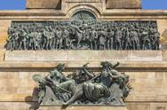 Stock Photo of Germany, Hesse, Ruedesheim, View of Niederwalddenkmal memorial, relief