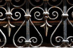 Wrought iron lattice Stock Photos