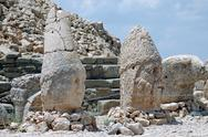 Stock Photo of toppled heads of the gods at the top of mount nemrut in turkey
