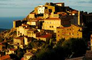Stock Photo of Late afternoon lights in Speloncato village, Corsica
