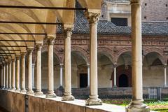 Certosa di pavia, cloister Stock Photos