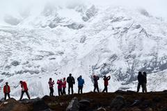 Annapurna base camp, himalayas, nepal Stock Photos