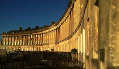 The Royal Crescent, Bath, United Kingdom Stock Photos