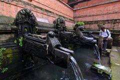 Public fountain - stock photo