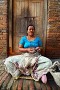 Poverty suburbs in Kathmandu, Nepal Stock Photos