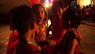 Stock Video Footage of School Children dance with sweet music