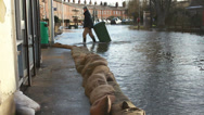 Stock Video Footage of Floods hit an English town