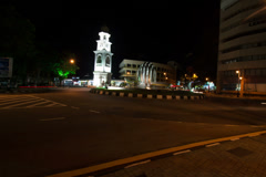 Penang clock tower night timelapse Stock Footage