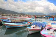 Stock Photo of boats stand at the pier in alanya