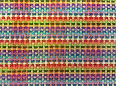 Colorful woven rug Stock Photos