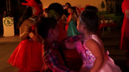 Stock Video Footage of Young Children taught to dance sweet music