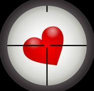 Stock Illustration of heart under a sight