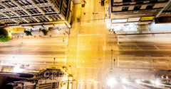 Overhead Intersection Time Lapse Stock Footage