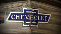 Chevrolet Logo Grill Stock Footage