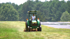 Grass Mowing Stock Footage