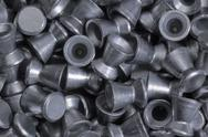 Stock Photo of full frame diabolo pellets detail