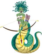 Medusa on White Stock Illustration