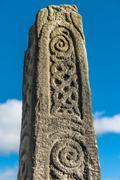Saxon stone cross Stock Photos