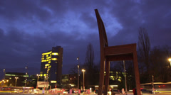 Timelapse of United Nation in Europe Stock Footage