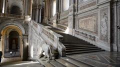 Interior of Palace Royal room - caserta - Italy Stock Footage