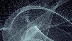 VJ Loop - Tangled rotating network of glowing 3D wires Stock Footage