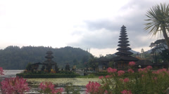 Old Ulun Danu Temple in Beratan Lake, Bali Stock Footage