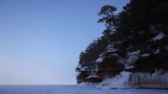Ice Caves - Apostle Islands - Frozen Lake Superior Winter Stock Footage
