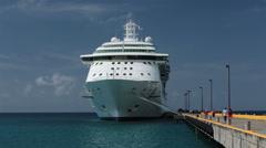 St Croix American Virgin Island cruise ship HD 1121 Stock Footage
