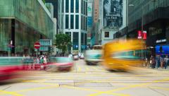 4k timelapse video of a busy intersection in a city Stock Footage
