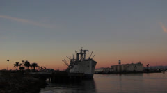 S.S. Lane Victory - Sunset Stock Footage