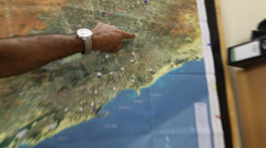 Locations on map of mogadishu, somalia Stock Footage