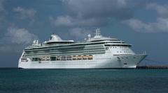 St Croix Island Caribbean Cruise ship port HD 1079 Stock Footage