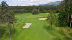 AERIAL: Golfkenttä Arkistovideo