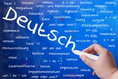 learn German - stock illustration