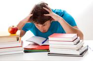 Stock Photo of too much studying