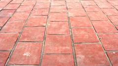 Yard by brick Stock Footage