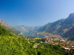 Pictorial view in montenegro bay Stock Photos