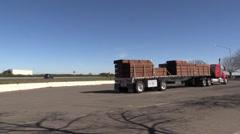 Big rig semi trucks Stock Footage