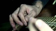Stock Video Footage of Playing guitar chords hand string