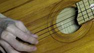 Stock Video Footage of Playing guitar music chords hand string