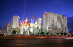 las vegas - circa 2014: the excalibur hotel and casino on circa 2014 in las v - stock photo