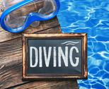 Stock Photo of diving and swim mask
