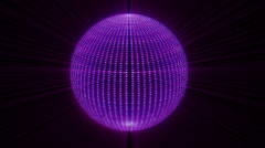 Shiny particles ball loopable Background Stock Footage