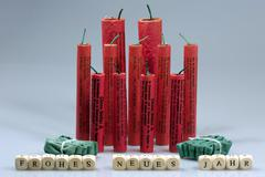 Fireworks and china firecrackers - stock photo