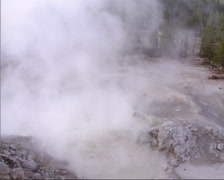 Sulphur Caldron mud pool in Yellowstone National Park Stock Footage