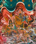 Thai buddhist mural Stock Illustration