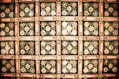wooden motif patterns - stock photo